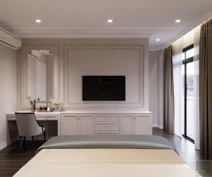 thiết kế nội thất nhà phố tân cổ điển - phòng ngủ 2