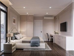 thiết kế nội thất nhà phố tân cổ điển - phòng ngủ 3