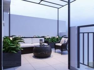 thiết kế nội thất nhà phố tân cổ điển - sân thượng 1