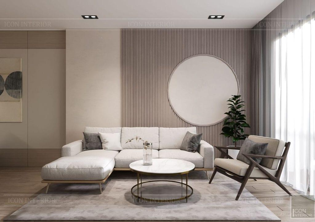 thiết kế nội thất theo phong cách tối giản - phòng khách bếp 2