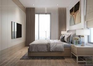 thiết kế nội thất theo phong cách tối giản - phòng ngủ master 1