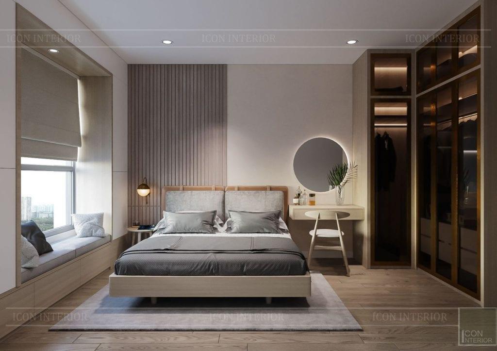 thiết kế nội thất theo phong cách tối giản - phòng ngủ 3
