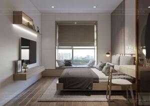 thiết kế nội thất theo phong cách tối giản - phòng ngủ 1