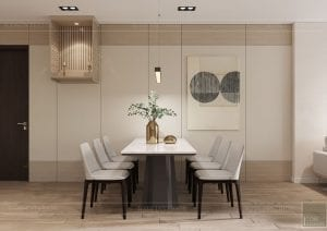 thiết kế nội thất theo phong cách tối giản - phòng khách bếp 5