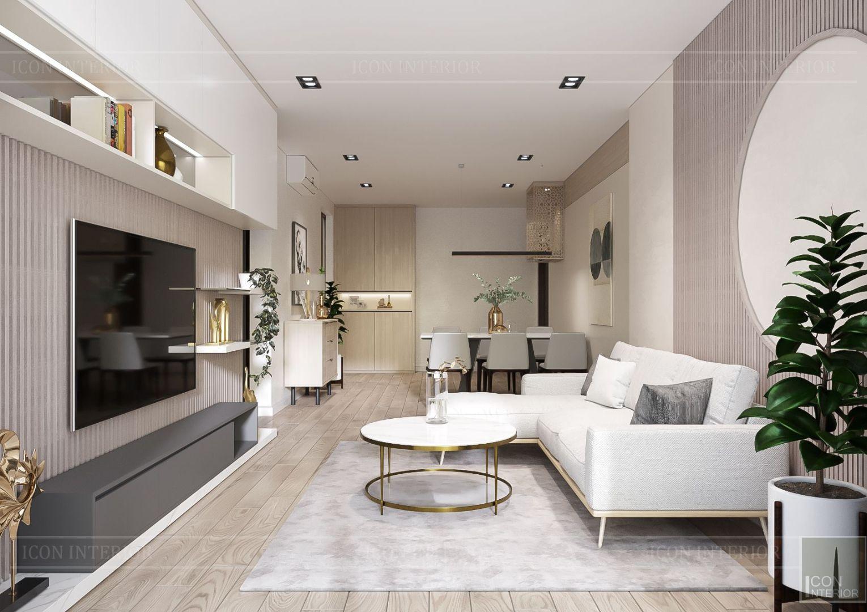 thiết kế nội thất theo phong cách tối giản - phòng khách bếp 3
