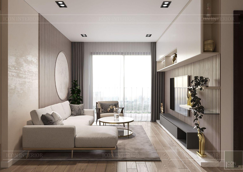 thiết kế nội thất theo phong cách tối giản - phòng khách bếp 1