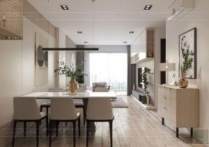 thiết kế nội thất theo phong cách tối giản - phòng khách bếp 4