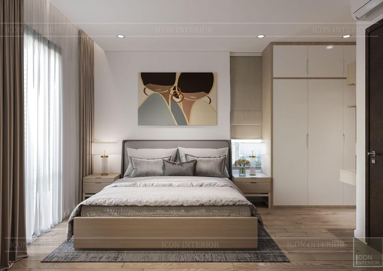 thiết kế nội thất theo phong cách tối giản - phòng ngủ master 2