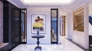tư vấn thiết kế nội thất biệt thự lavilla green city - phòng khách bếp 1