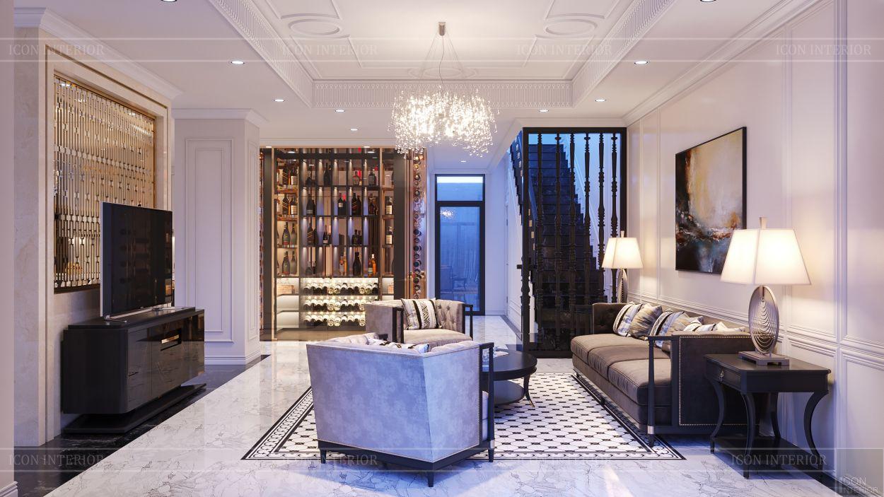 tư vấn thiết kế nội thất biệt thự lavilla green city - phòng khách bếp 2