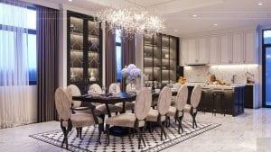 tư vấn thiết kế nội thất biệt thự lavilla green city - phòng khách bếp 9