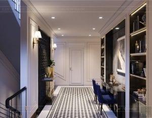 tư vấn thiết kế nội thất biệt thự lavilla green city - hành lang 4