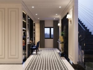tư vấn thiết kế nội thất biệt thự lavilla green city - hành lang 1
