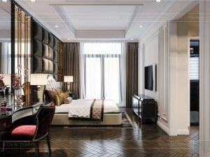tư vấn thiết kế nội thất biệt thự lavilla green city - phòng ngủ master 1