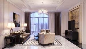 tư vấn thiết kế nội thất biệt thự lavilla green city - phòng khách bếp 5