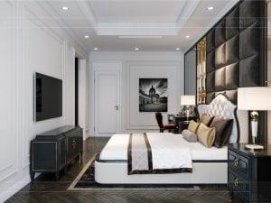 tư vấn thiết kế nội thất biệt thự lavilla green city - phòng ngủ master 3