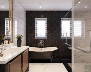 tư vấn thiết kế nội thất biệt thự lavilla green city - phòng tắm master 2