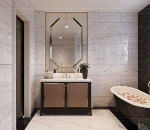 tư vấn thiết kế nội thất biệt thự lavilla green city - phòng tắm master 3