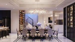 tư vấn thiết kế nội thất biệt thự lavilla green city - phòng khách bếp 7