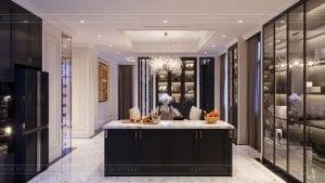 tư vấn thiết kế nội thất biệt thự lavilla green city - phòng khách bếp 10