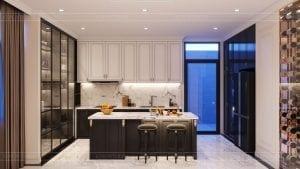 tư vấn thiết kế nội thất biệt thự lavilla green city - phòng khách bếp 11