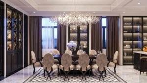 tư vấn thiết kế nội thất biệt thự lavilla green city - phòng khách bếp 8