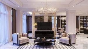 tư vấn thiết kế nội thất biệt thự lavilla green city - phòng khách bếp 3