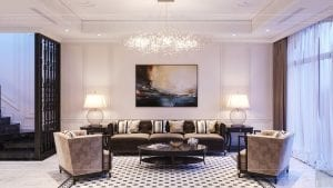 tư vấn thiết kế nội thất biệt thự lavilla green city - phòng khách bếp 4