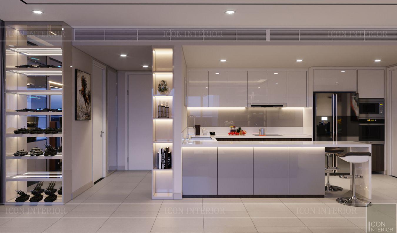 thiết kế nội thất căn hộ diamond island - phòng bếp
