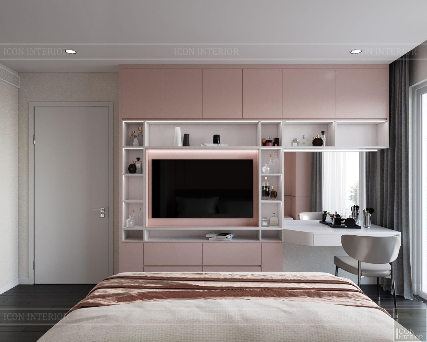 thiết kế nội thất căn hộ diamond island - phòng bé gái 1