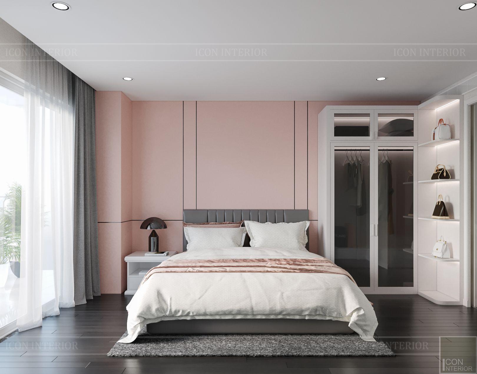 thiết kế nội thất căn hộ diamond island - phòng bé gái 2