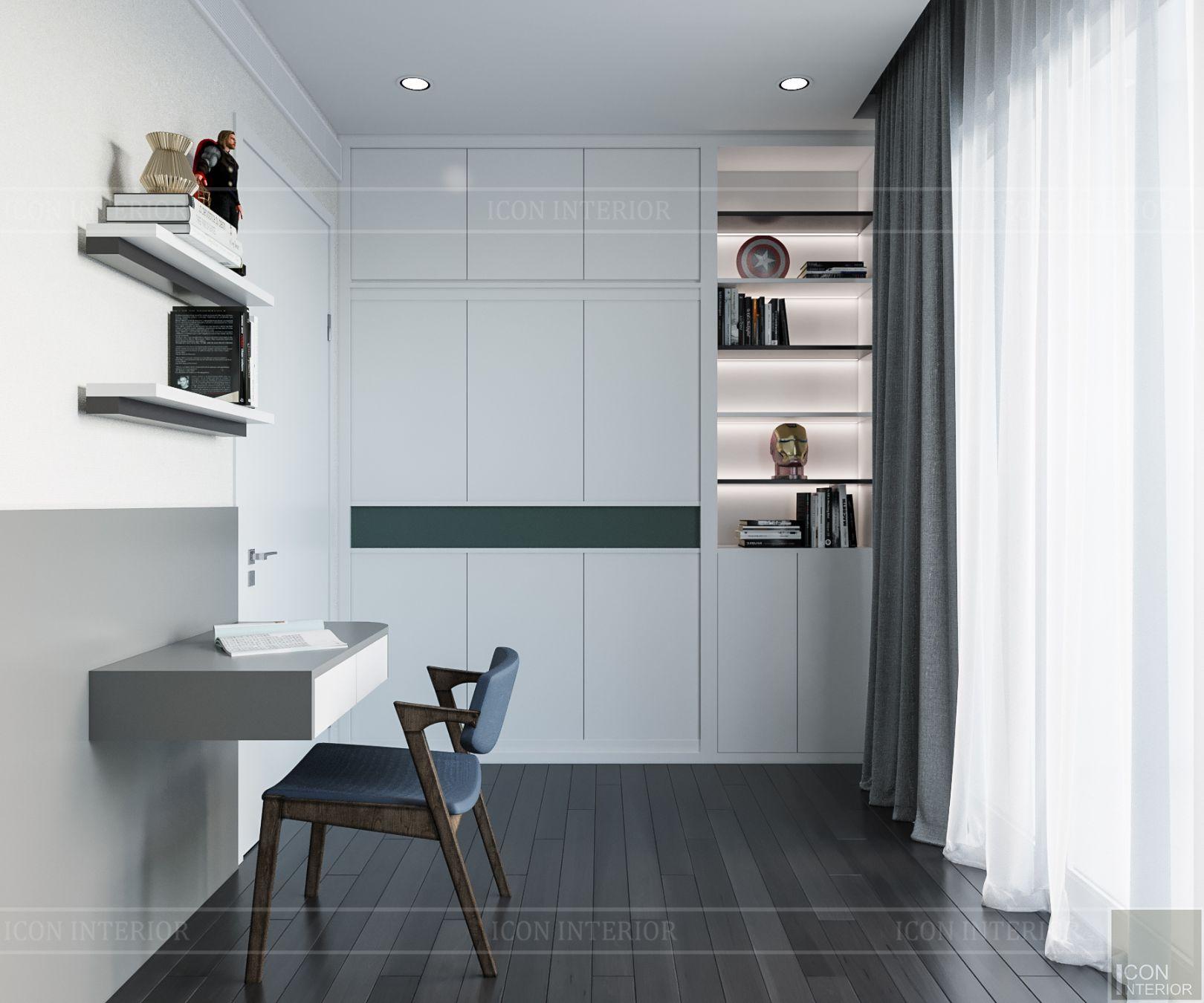 thiết kế nội thất căn hộ diamond island - phòng bé trai