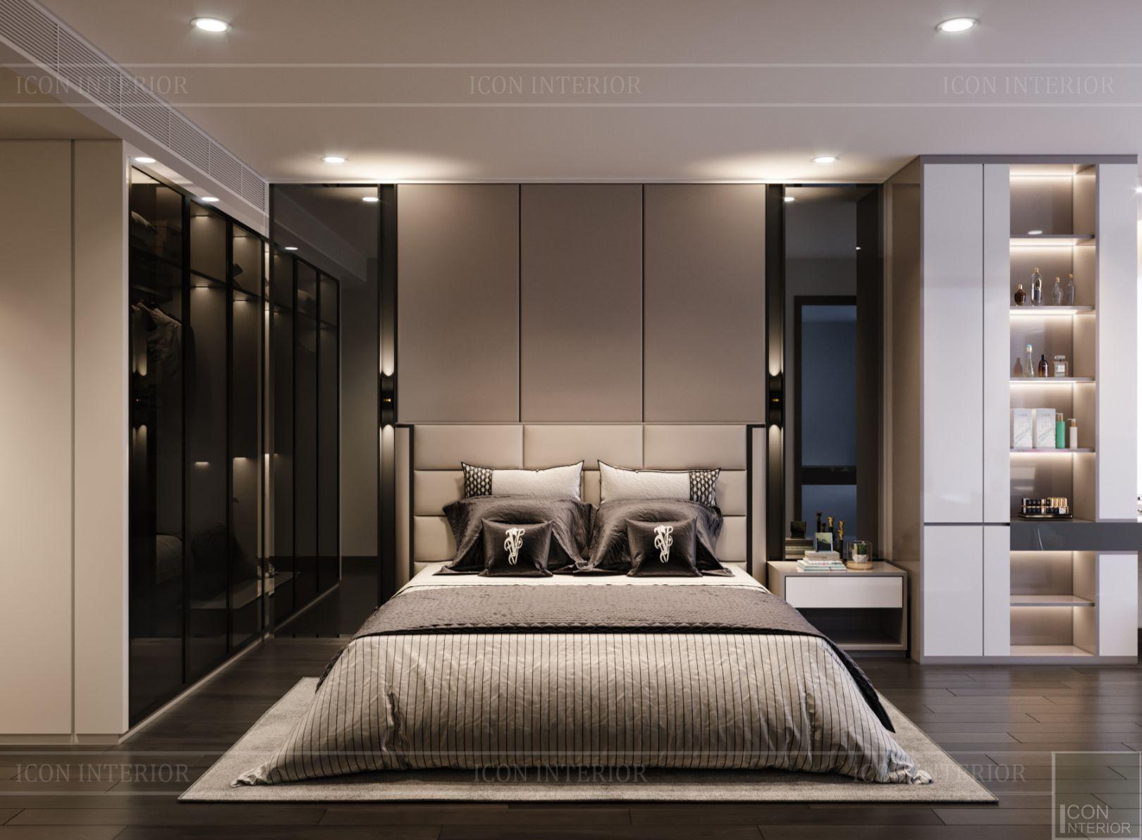 thiết kế nội thất căn hộ diamond island - phòng ngủ master 3