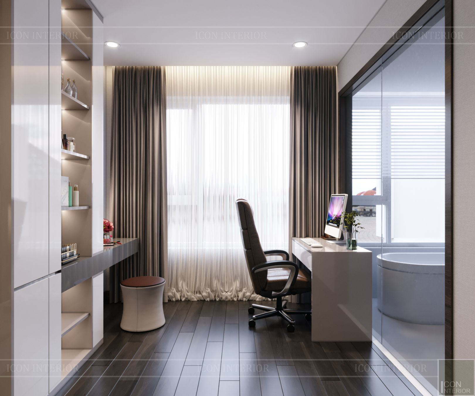 thiết kế nội thất căn hộ diamond island - phòng ngủ master 2