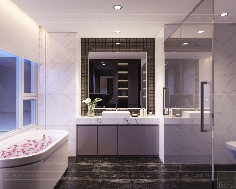 thiết kế nội thất căn hộ diamond island - phòng tắm