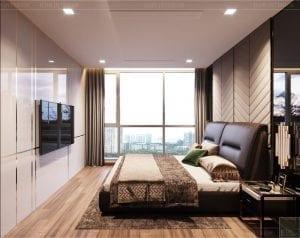 thiết kế nội thất nhà hiện đại - phòng ngủ 2