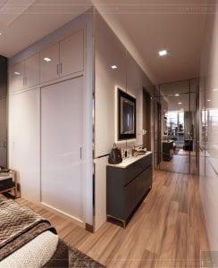 thiết kế nội thất nhà hiện đại - phòng ngủ 4