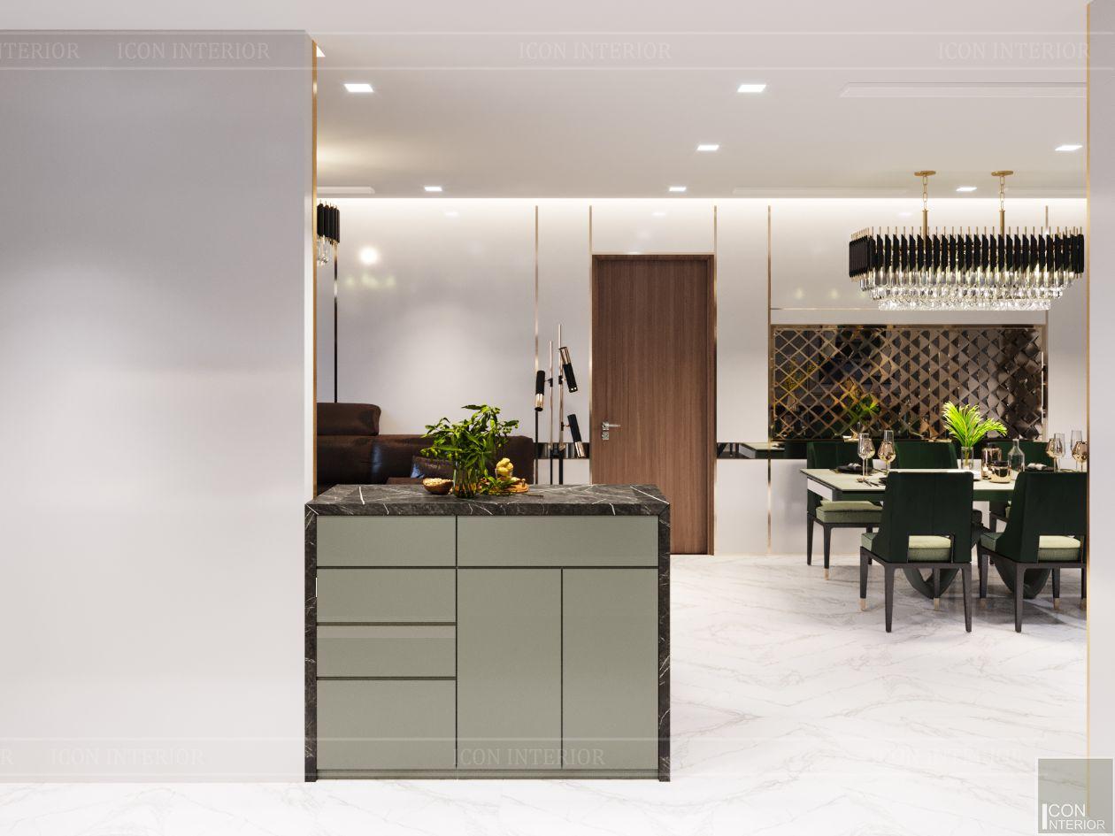 thiết kế nội thất nhà hiện đại - phòng bếp 2