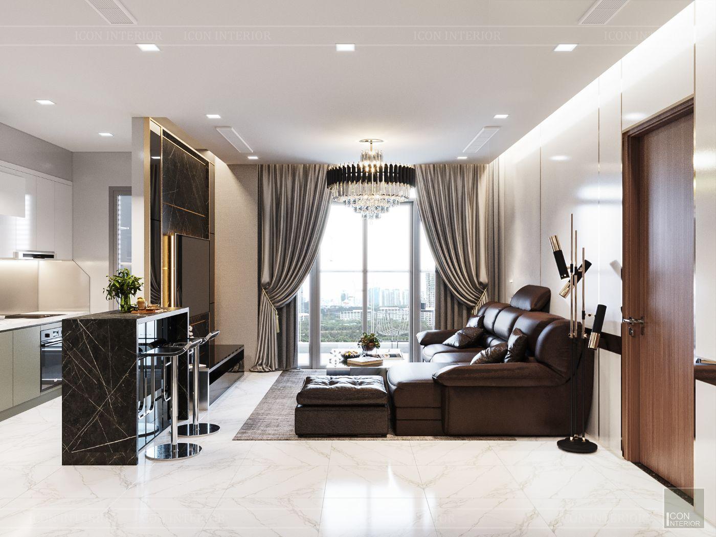 thiết kế nội thất nhà hiện đại - phòng khách 1