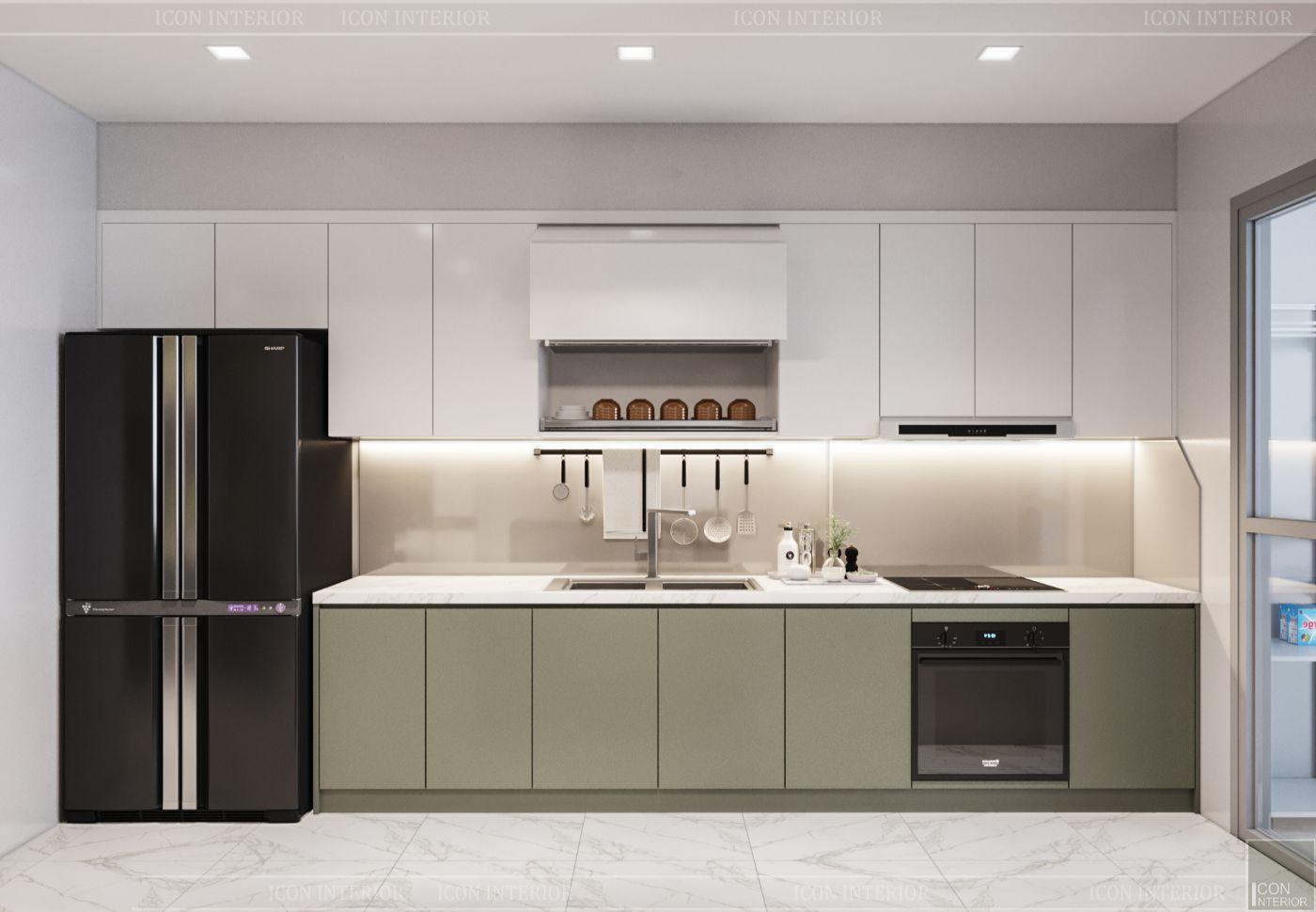 thiết kế nội thất nhà hiện đại - phòng bếp 1