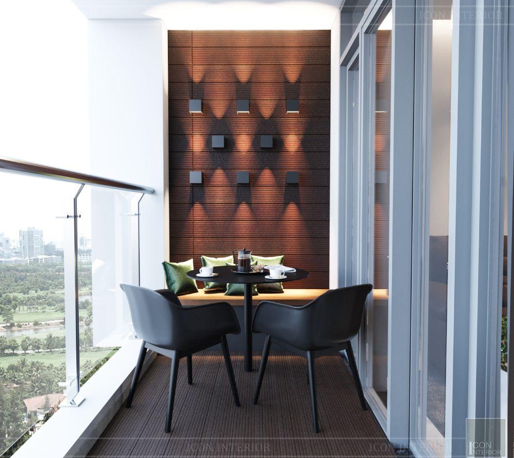 thiết kế nội thất nhà hiện đại - ban công 3