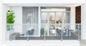 thiết kế nội thất nhà hiện đại - ban công 1