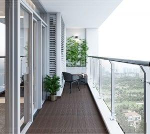 thiết kế nội thất nhà hiện đại - ban công 2