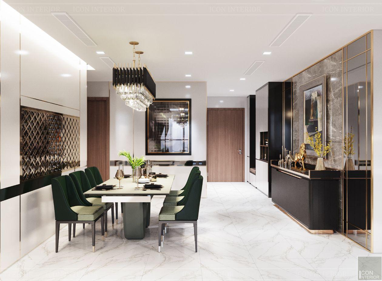 thiết kế nội thất nhà hiện đại - phòng ăn