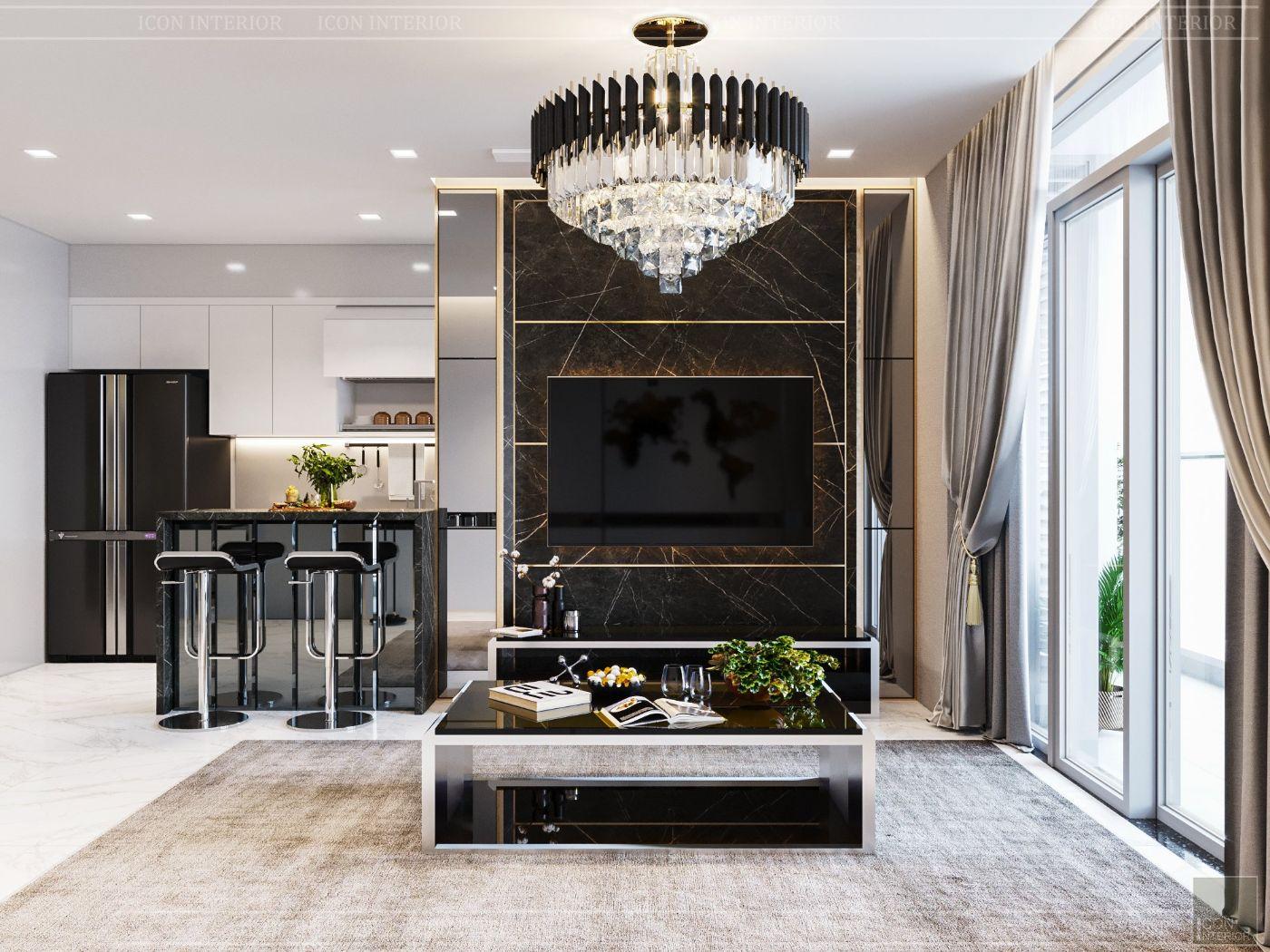 thiết kế nội thất nhà hiện đại - phòng khách 2