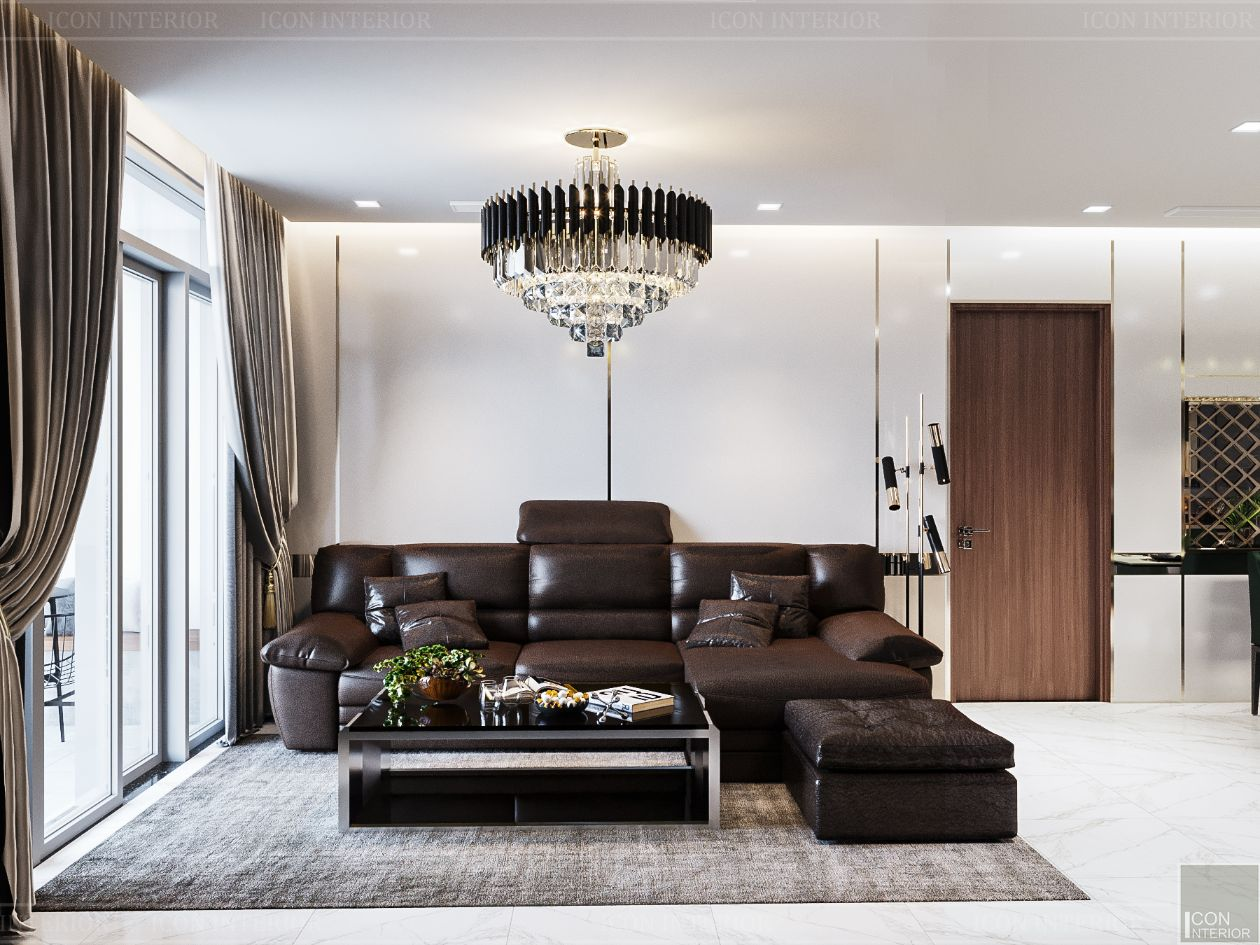 thiết kế nội thất nhà hiện đại - phòng khách 3