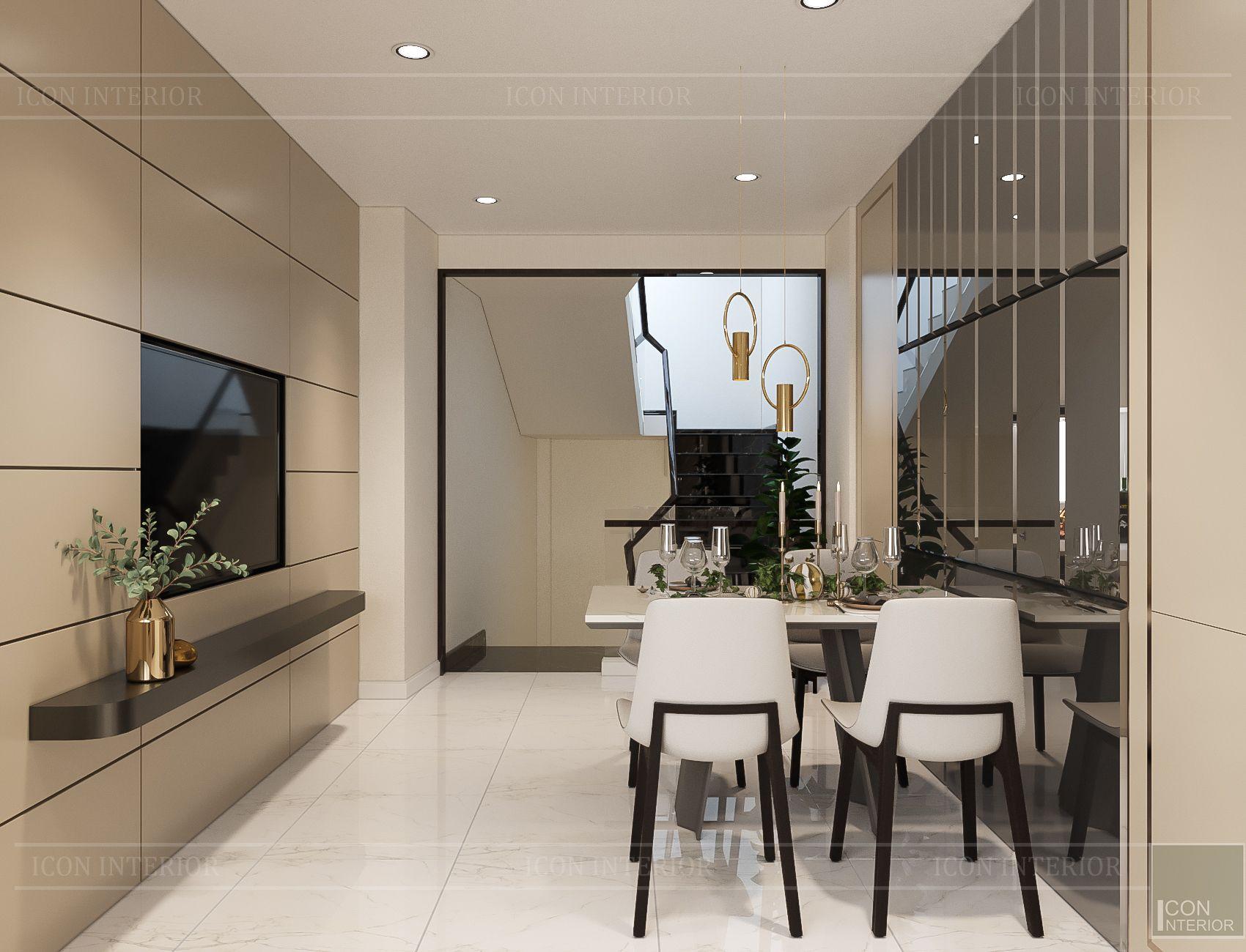 thiết kế nội thất nhà phố hiện đại - phòng bếp 1