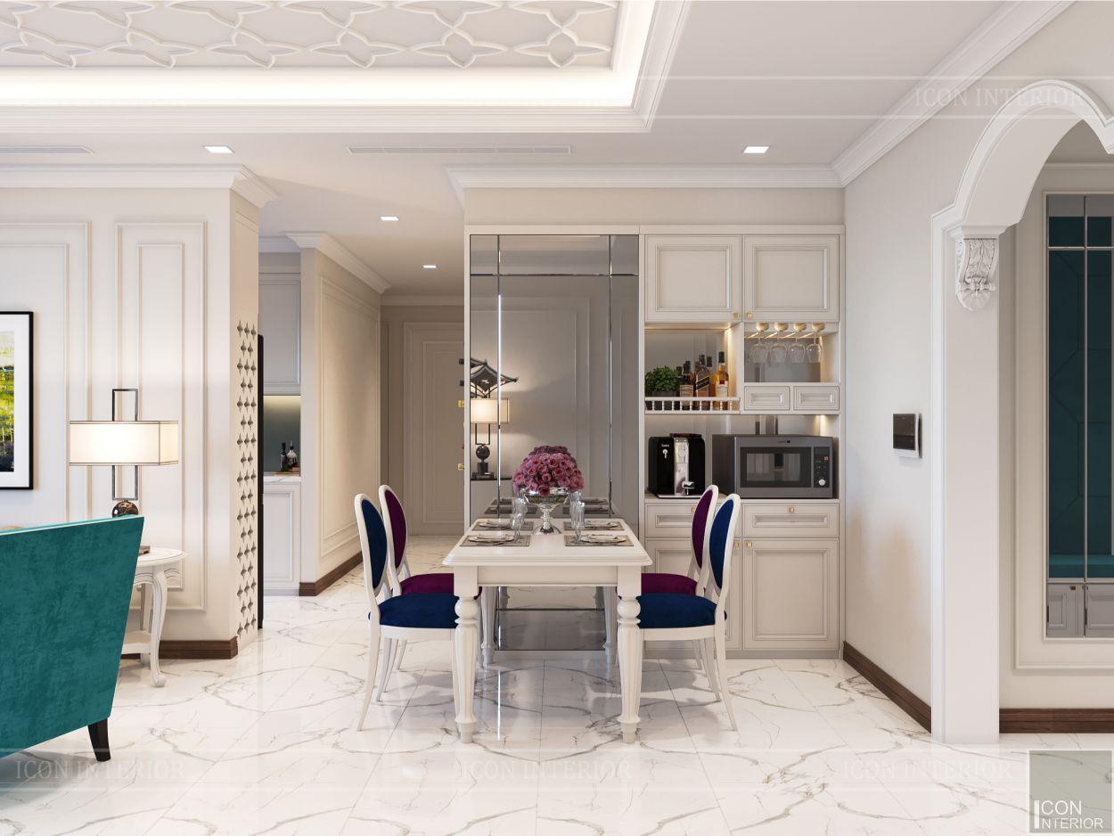 thiết kế nội thất thượng lưu - phòng ăn 2