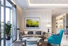 thiết kế nội thất thượng lưu - phòng khách 3
