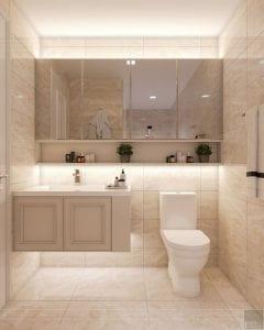 thiết kế nội thất thượng lưu - phòng tắm 2